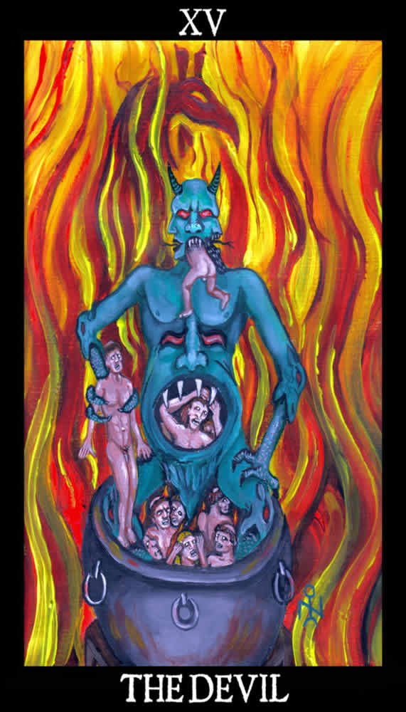 The Devil   Esoteric And Occult Luciferian Tarot Cards Wallpaper Image 571x1000