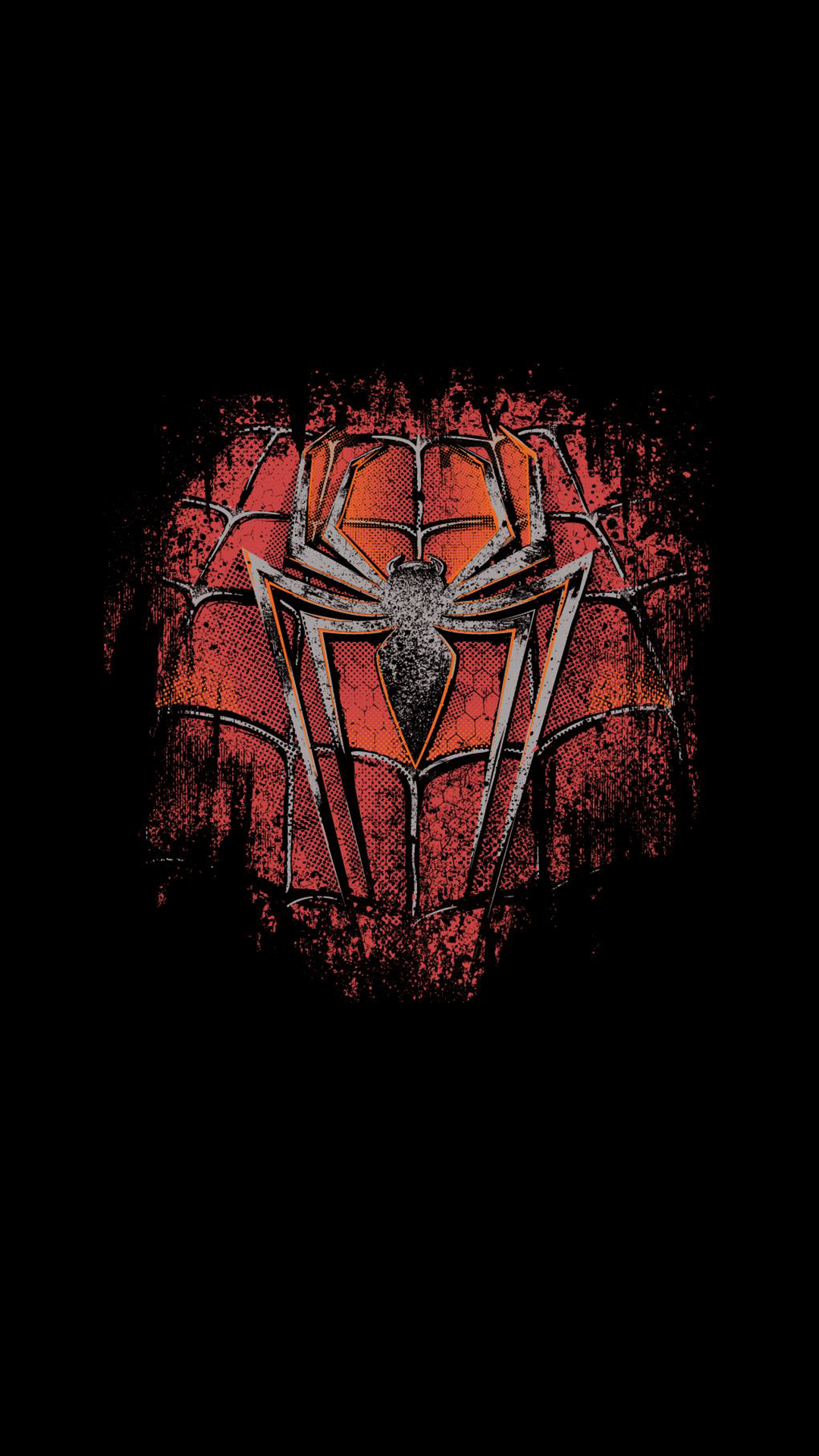 Spiderman Logo Minimal Artwork Wallpaper   Android Wallpapers 1080x1920
