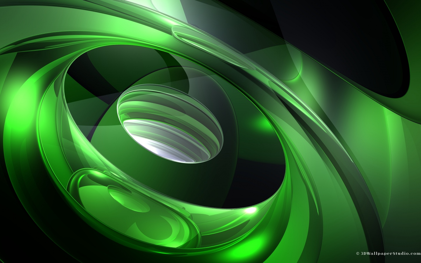3D Wallpaper 3d abstract sound of green 1440 x 900 1440x900