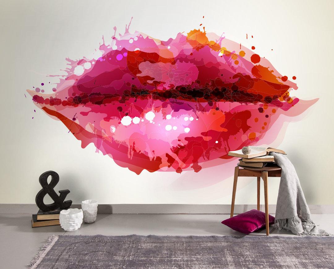 Lip Theme Wallpaper Trend Mura Wall 2019 Trending Now Etsy 1080x869