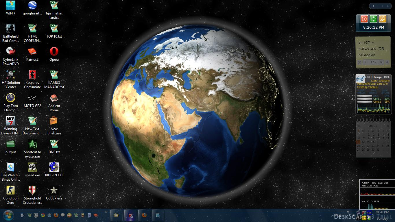 live earth wallpaper ubuntu