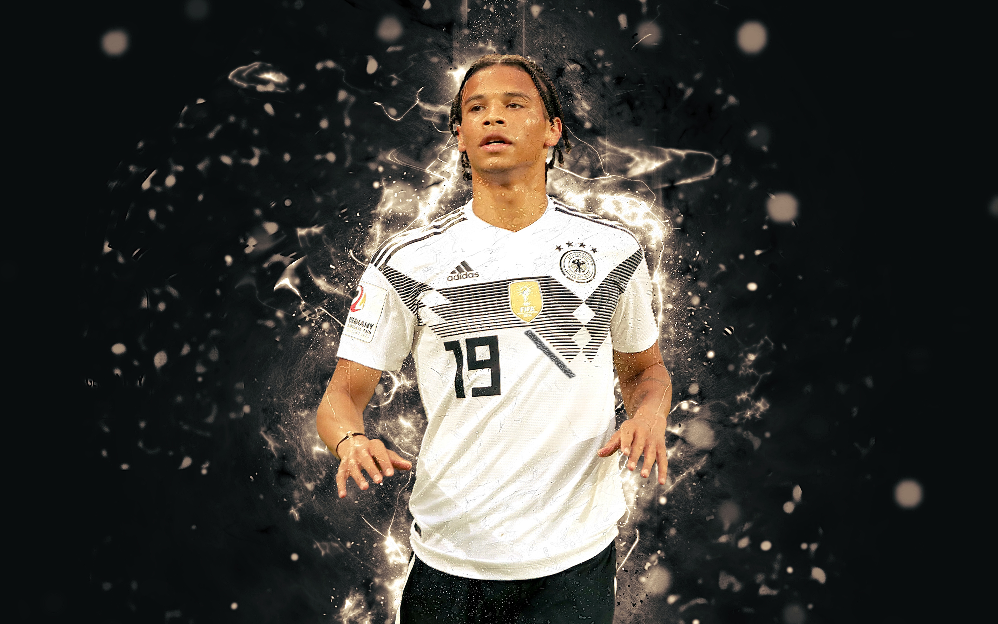Free Download Download Wallpapers 4k Leroy Sane Abstract