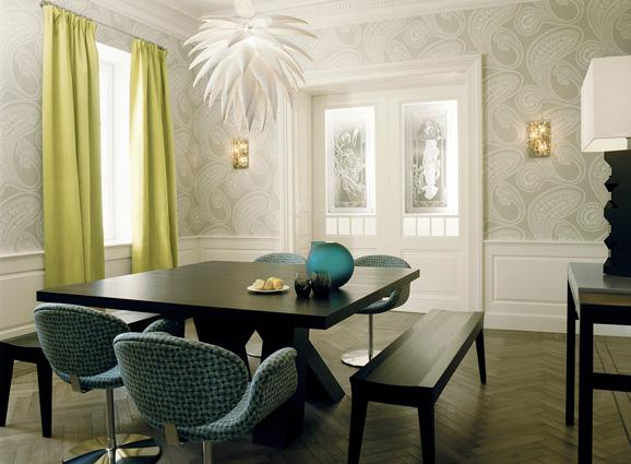 Dining Room Wainscoting   Contemporary   dining room   Kate Hume 578x425