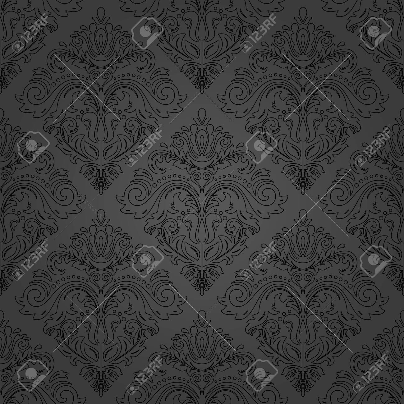 Orient Vector Classic Dark Pattern Seamless Abstract Background 1300x1300