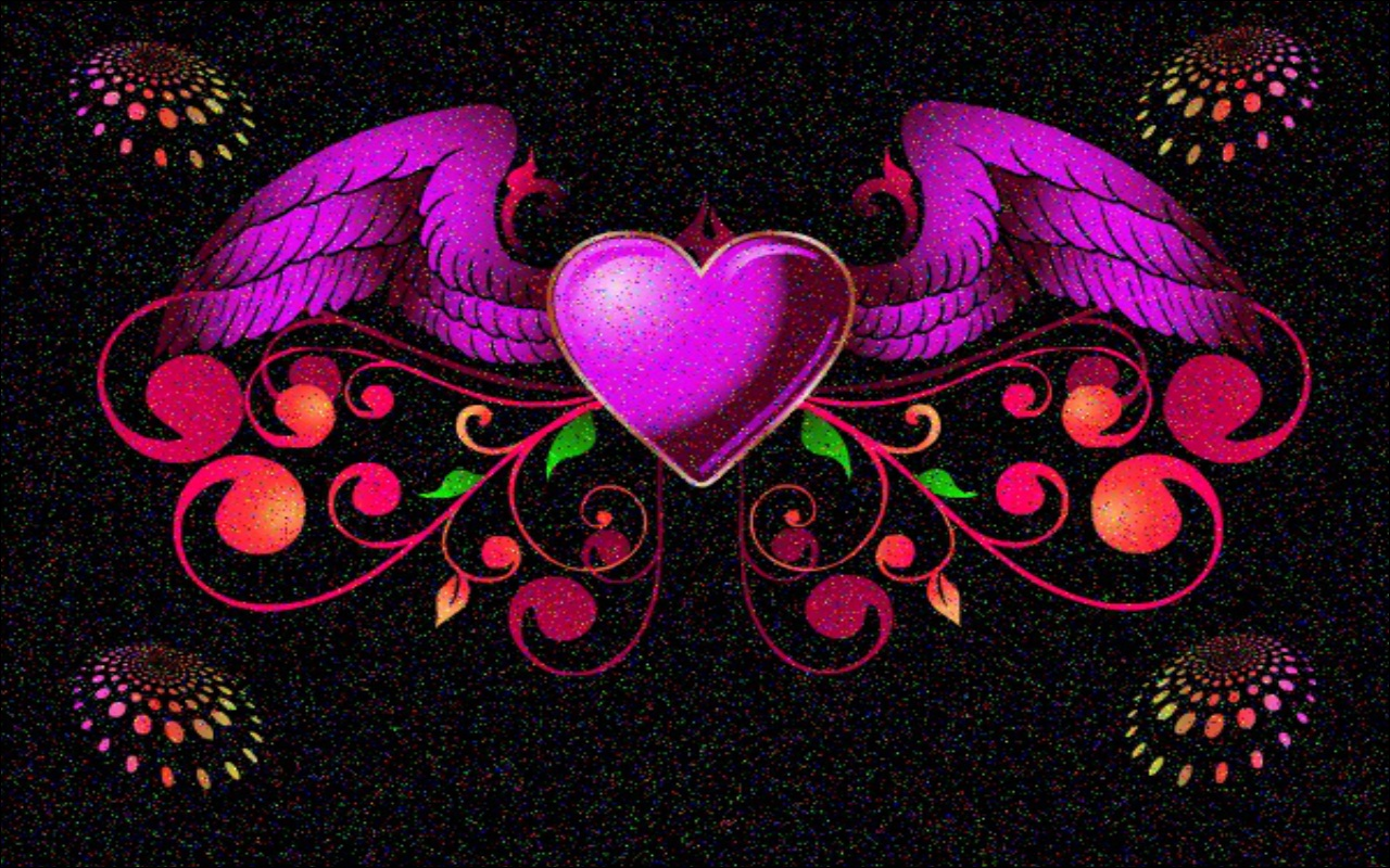 heart with wings wallpaper
