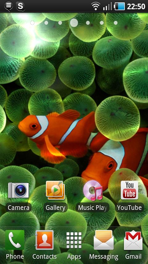 Apple Clownfish Live Wallpaper Android Themes best android apps 480x854