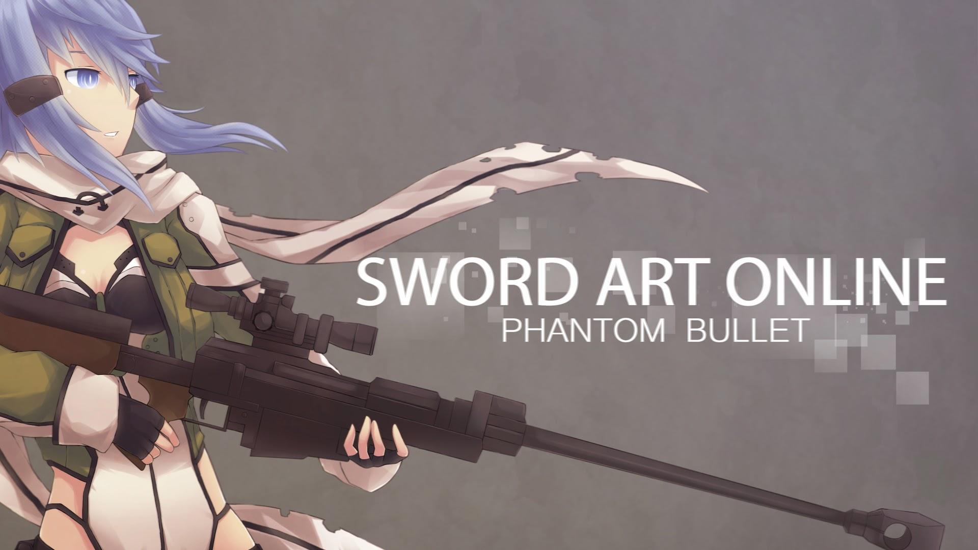 sinon sword art online 2 phantom bullet gun gale online anime 2014 SAO 1920x1080