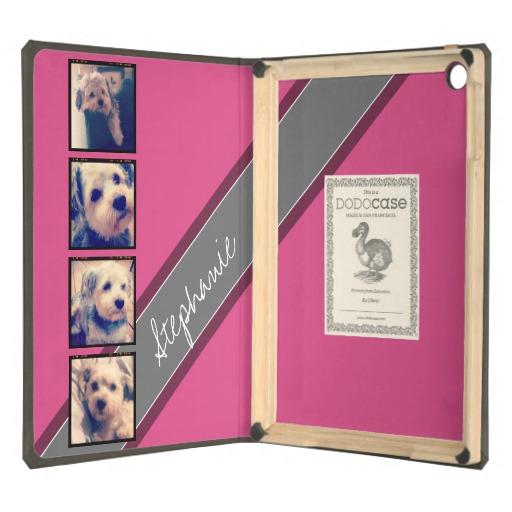Instagram Collage   4 photos hot pink background iPad Air Case 512x512