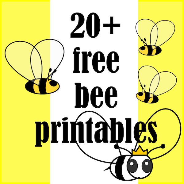 20 bee themed printables   Bienen Druckvorlagen   links 600x600