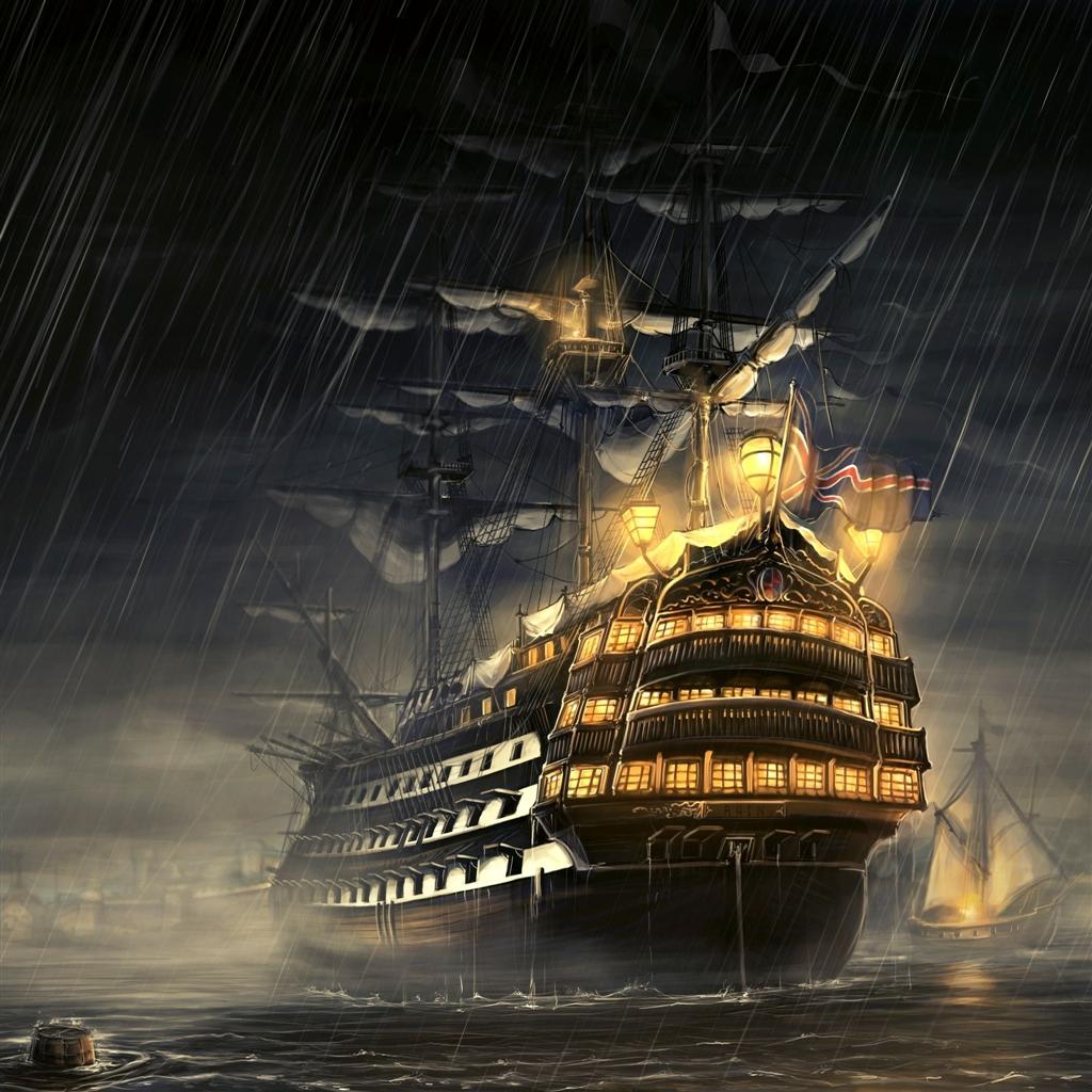 Pirate Ship iPad Air Wallpaper Download | iPhone Wallpapers, iPad ...