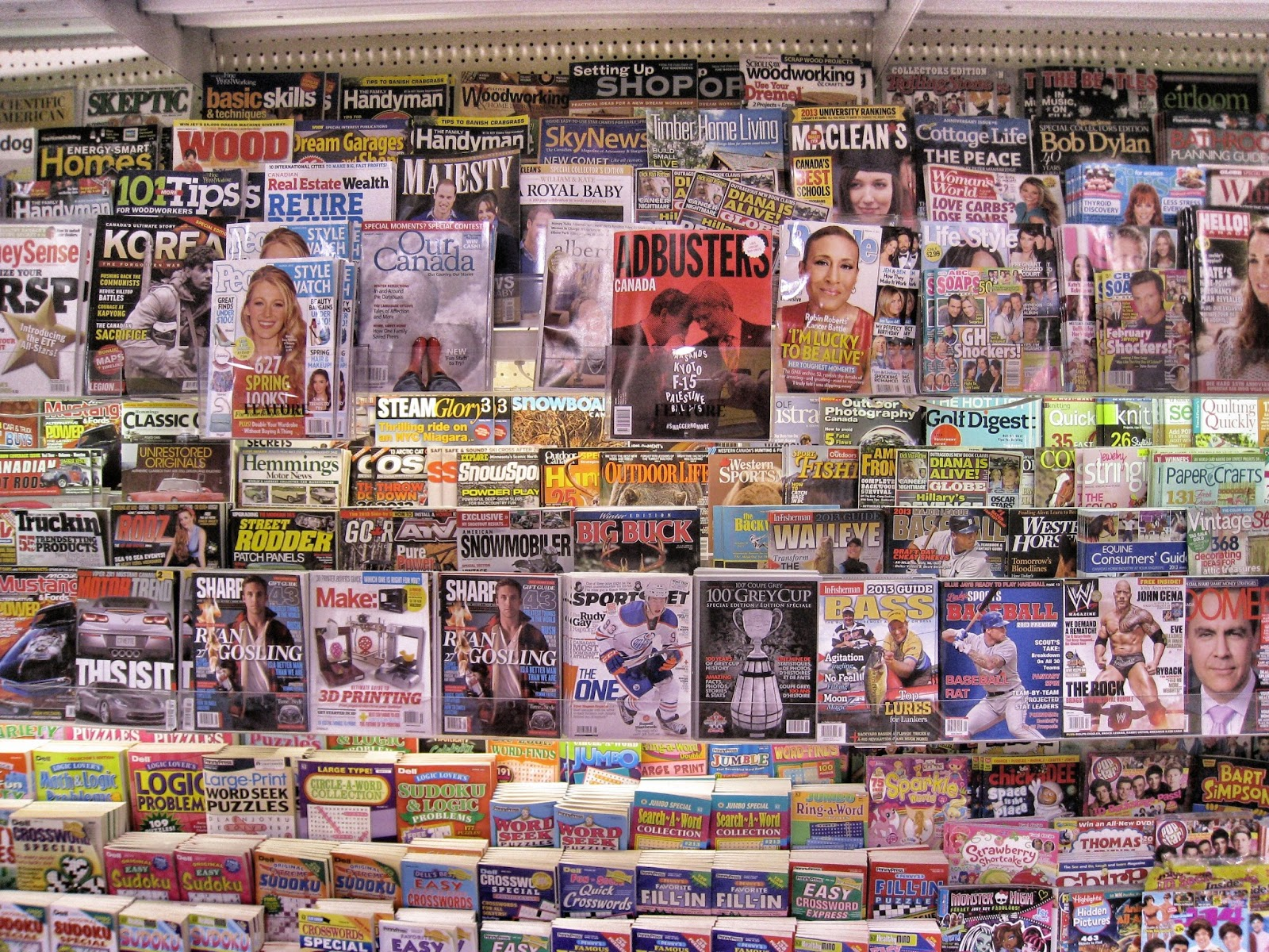 David Steinlicht Magazine rack in a Canadian grocery store 1600x1200