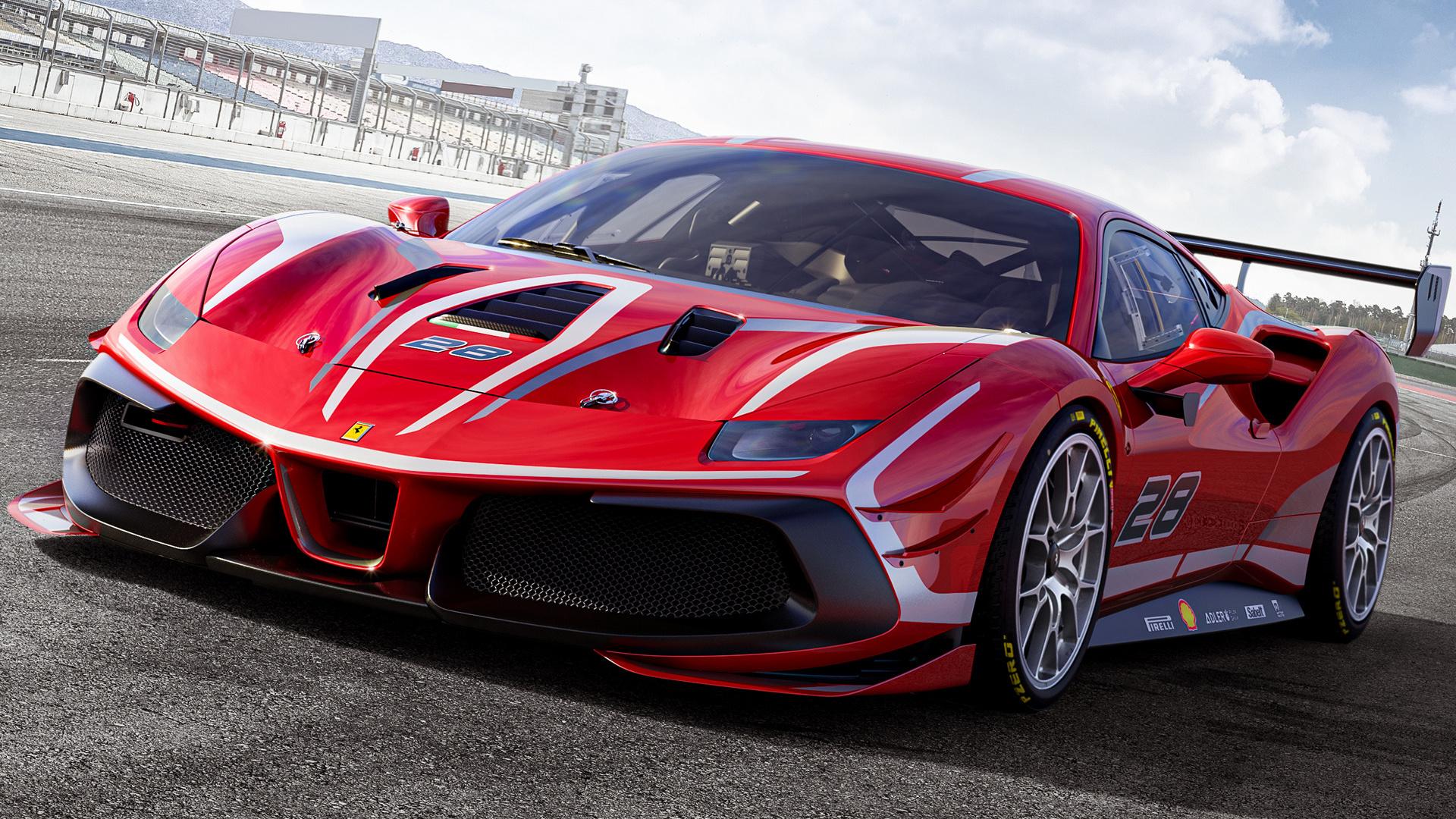 2020 Ferrari 488 Challenge Evo HD Wallpaper Background Image 1920x1080