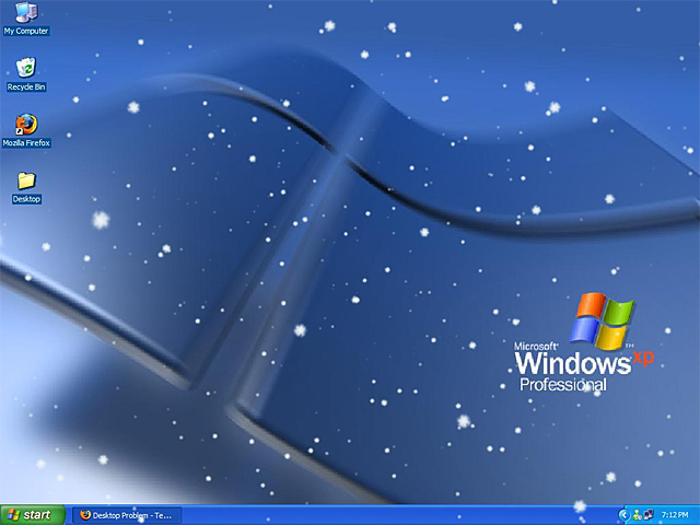 Watch snow in a winter forest with Animated SnowFlakes Screensaver 640x480