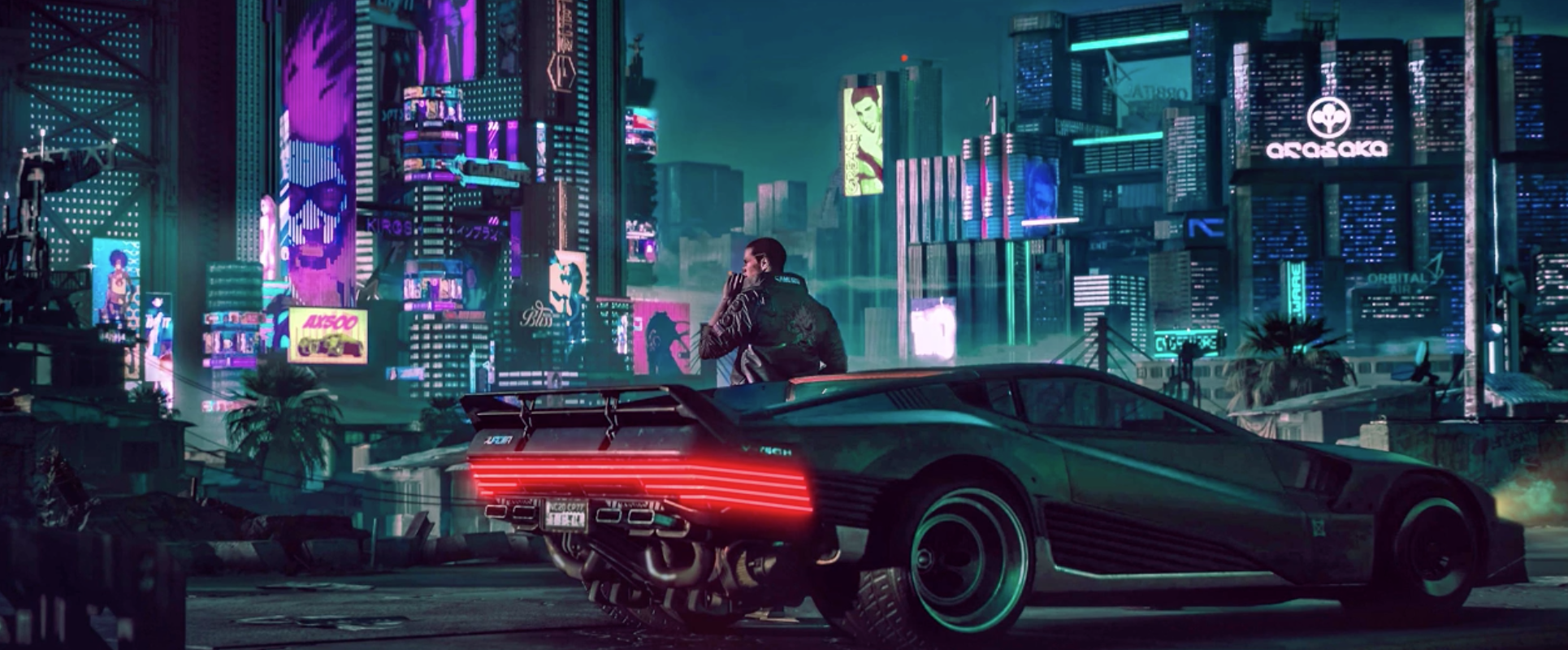 Cyberpunk 2077 Fan Made Living Wallpaper Turns Your Desktop Into 1930x800