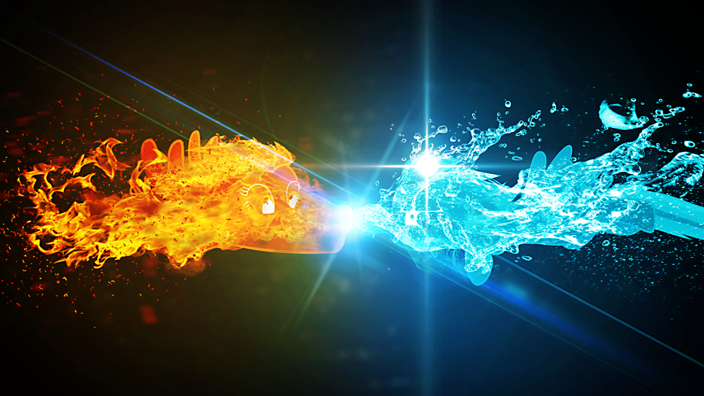 Cool Fire and Ice Wallpapers - WallpaperSafari Fire And Ice Dragon Wallpaper