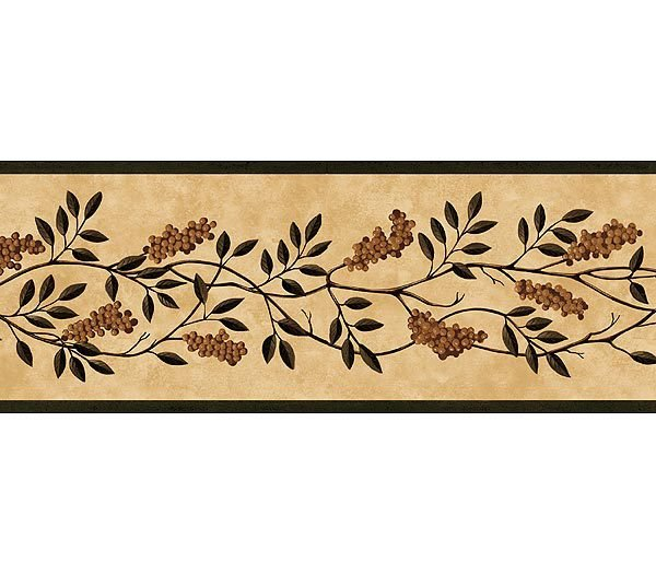Green Fruit Vine Wallpaper Border 600x525