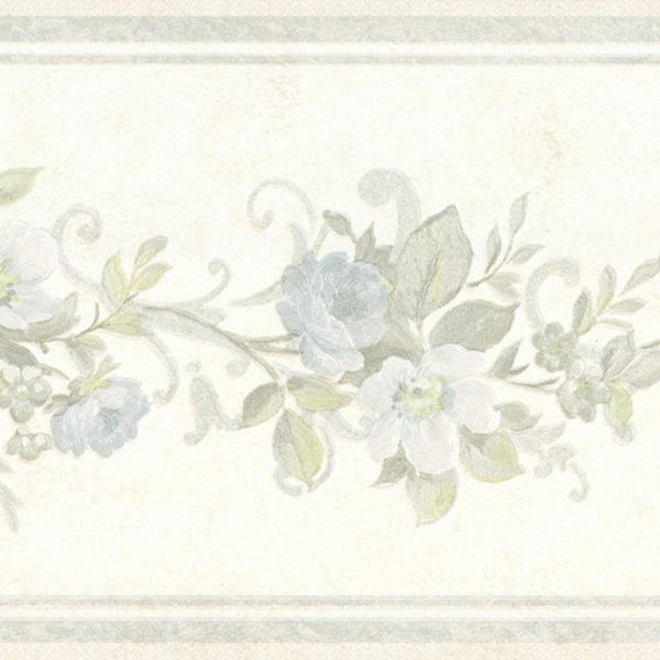 451 1750 Light Blue Scroll Floral   Brewster Wallpaper Borders 600x600