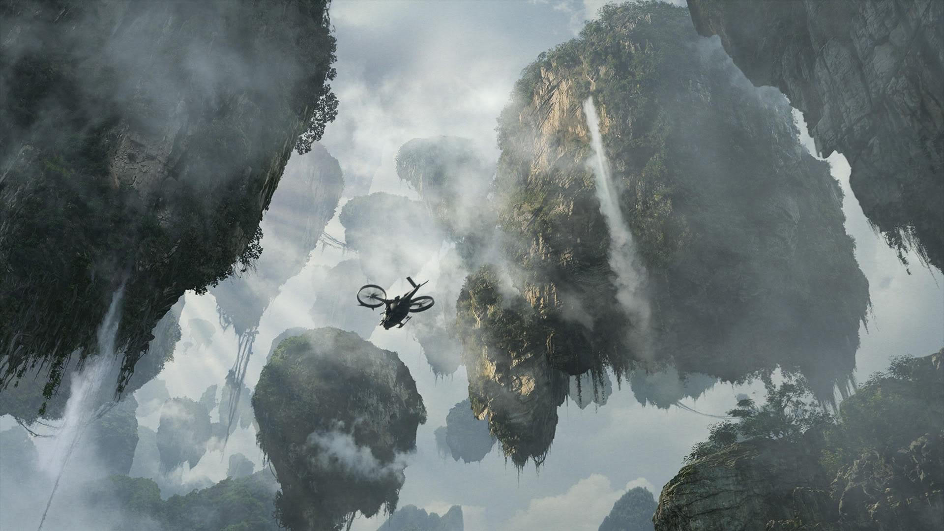 RC Helicopter among the Hallelujah Mountains HD Wallpaper 319KB 1920x1080