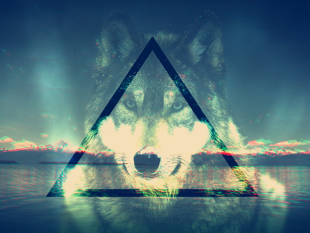 Hipster Wolf Wallpaper - WallpaperSafari