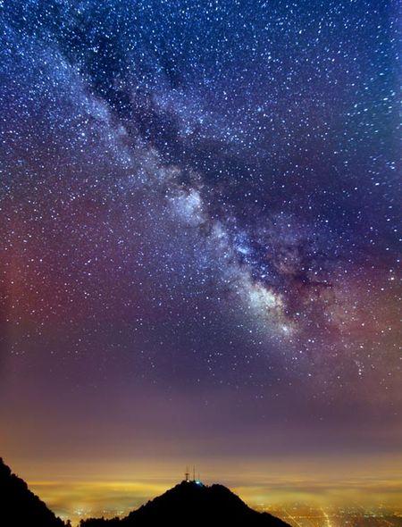 Apple Milky Way Wallpaper The milky way over los angeles 450x590