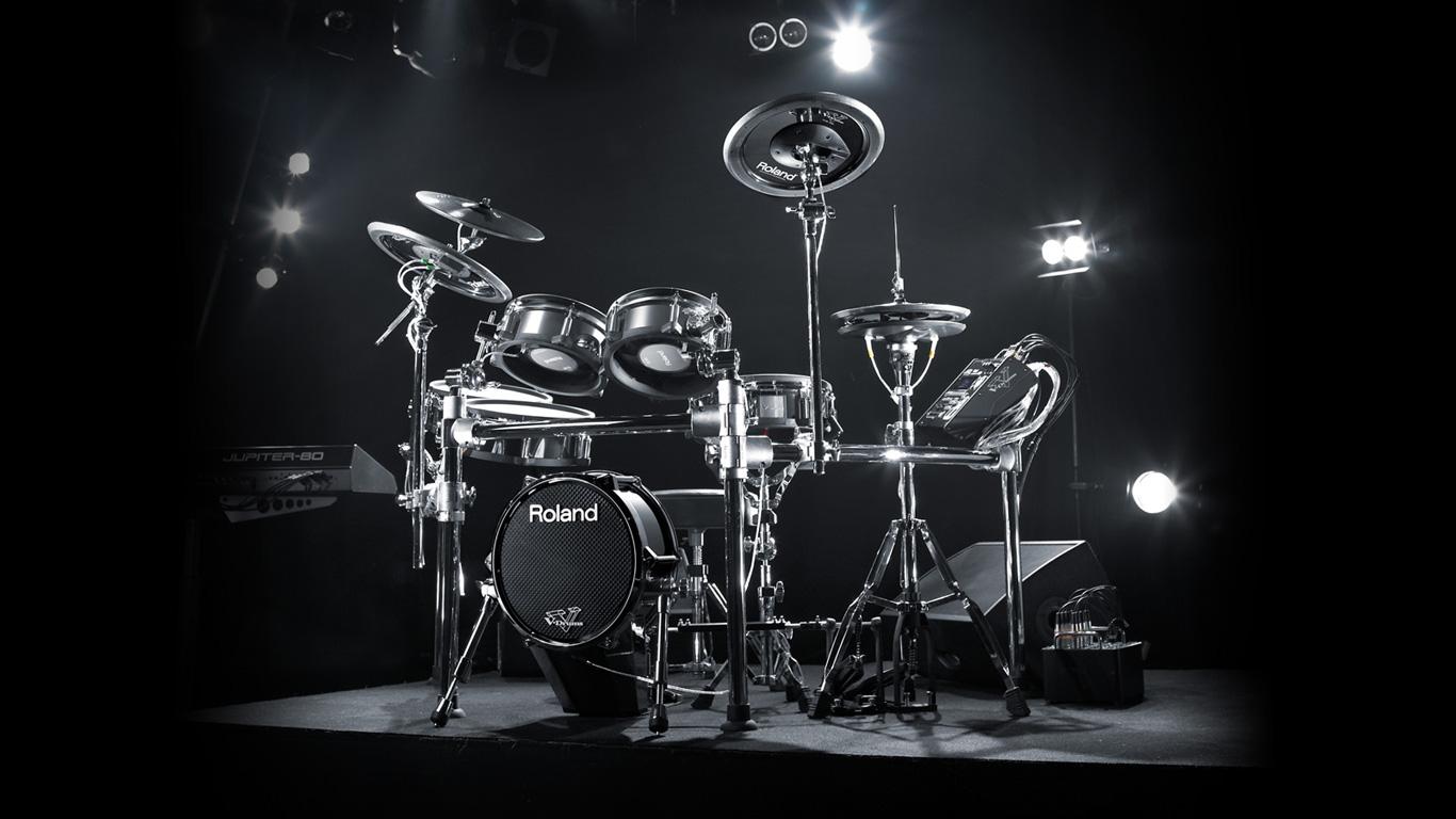 pearl drum set wallpaper light Wallpaper HD Desktop Widescreen 1366x768