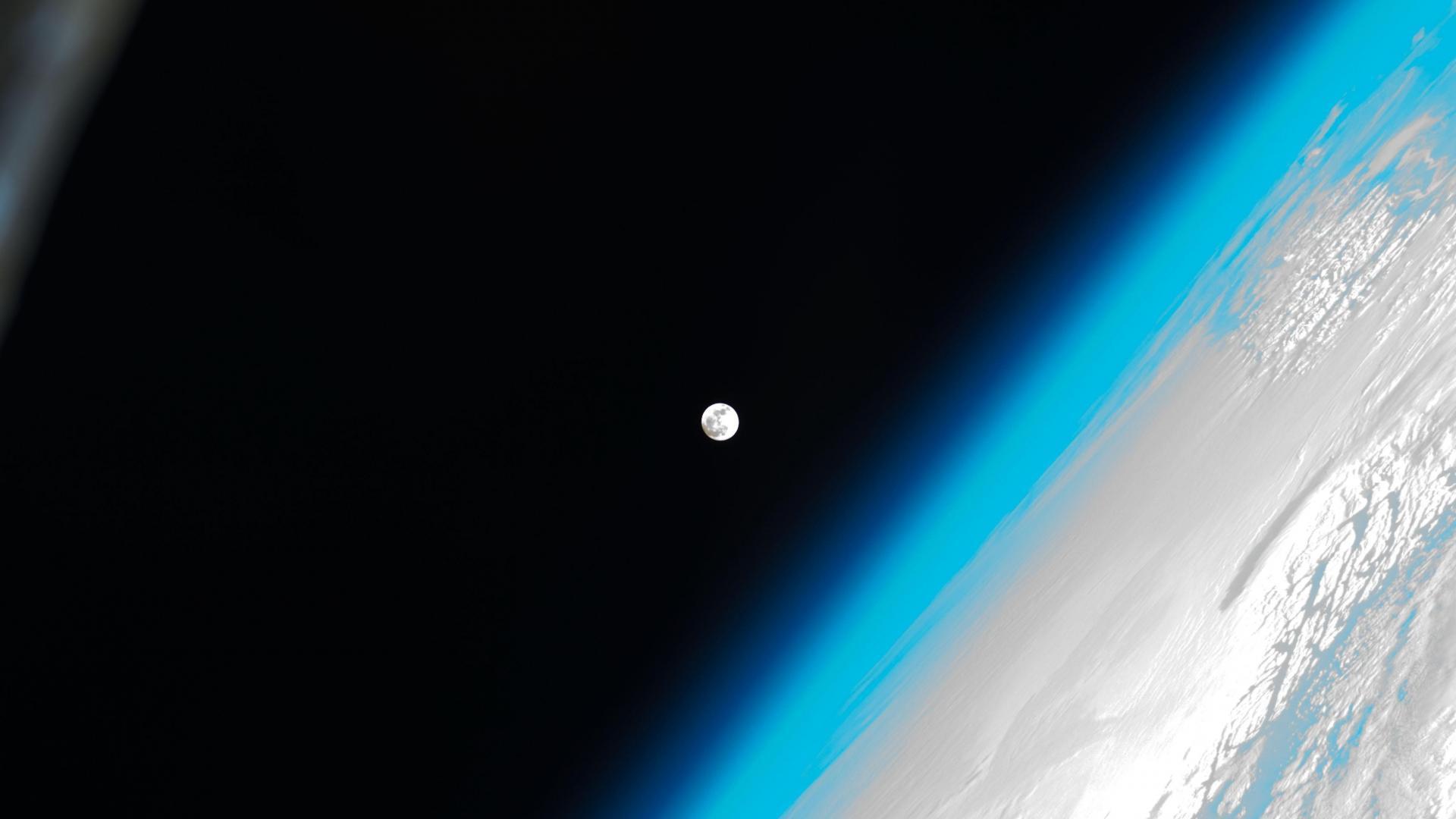 Moon earth nasa international station ozone esa wallpaper 1920x1080