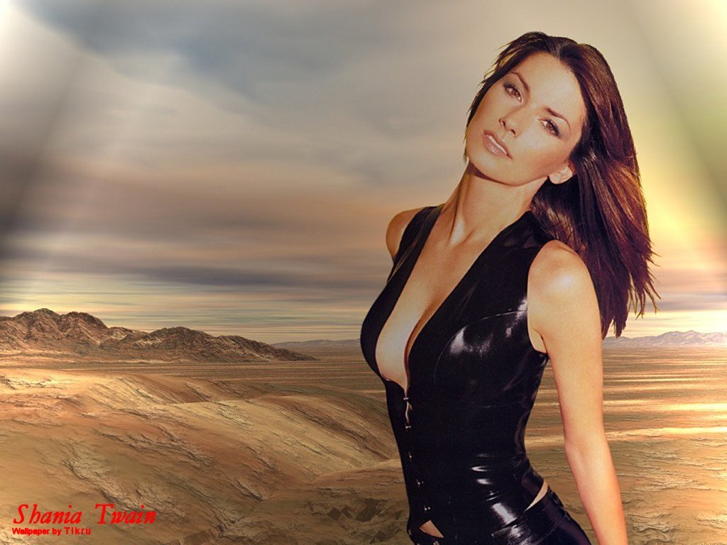 Download Topless Shania Twain Wallpapers 1024x768
