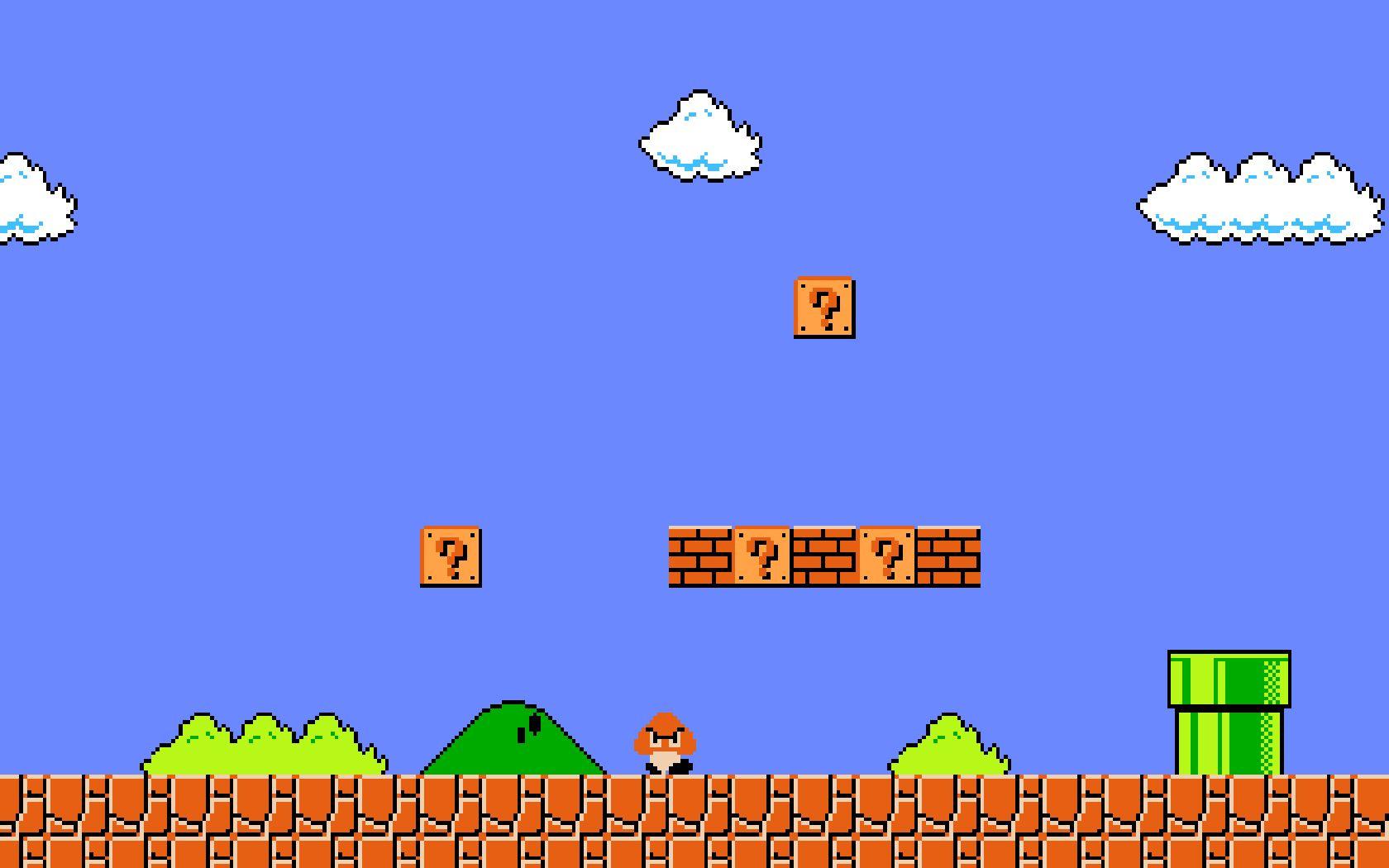 Super Mario Bros background in 2019 Mario bros Super mario bros 1680x1050