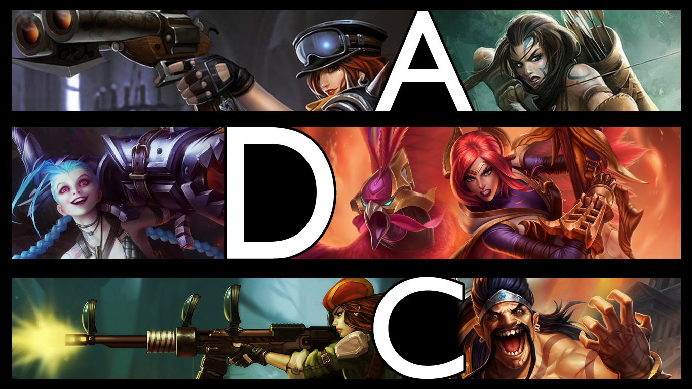 Free Download Lol Adc By Qwertyis666 1366x768 For Your Desktop