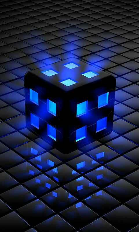 Blue Cube Galaxy S3 Wallpaper 480x800 480x800