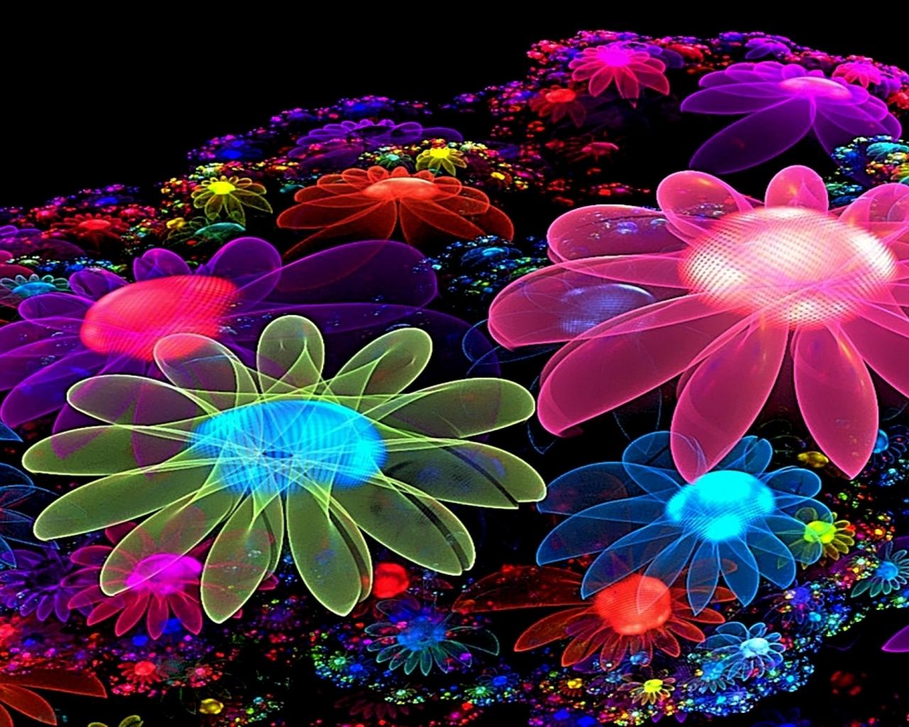 Free Colorful Flower Wallpaper Downloads: Glowing Flower Wallpapers