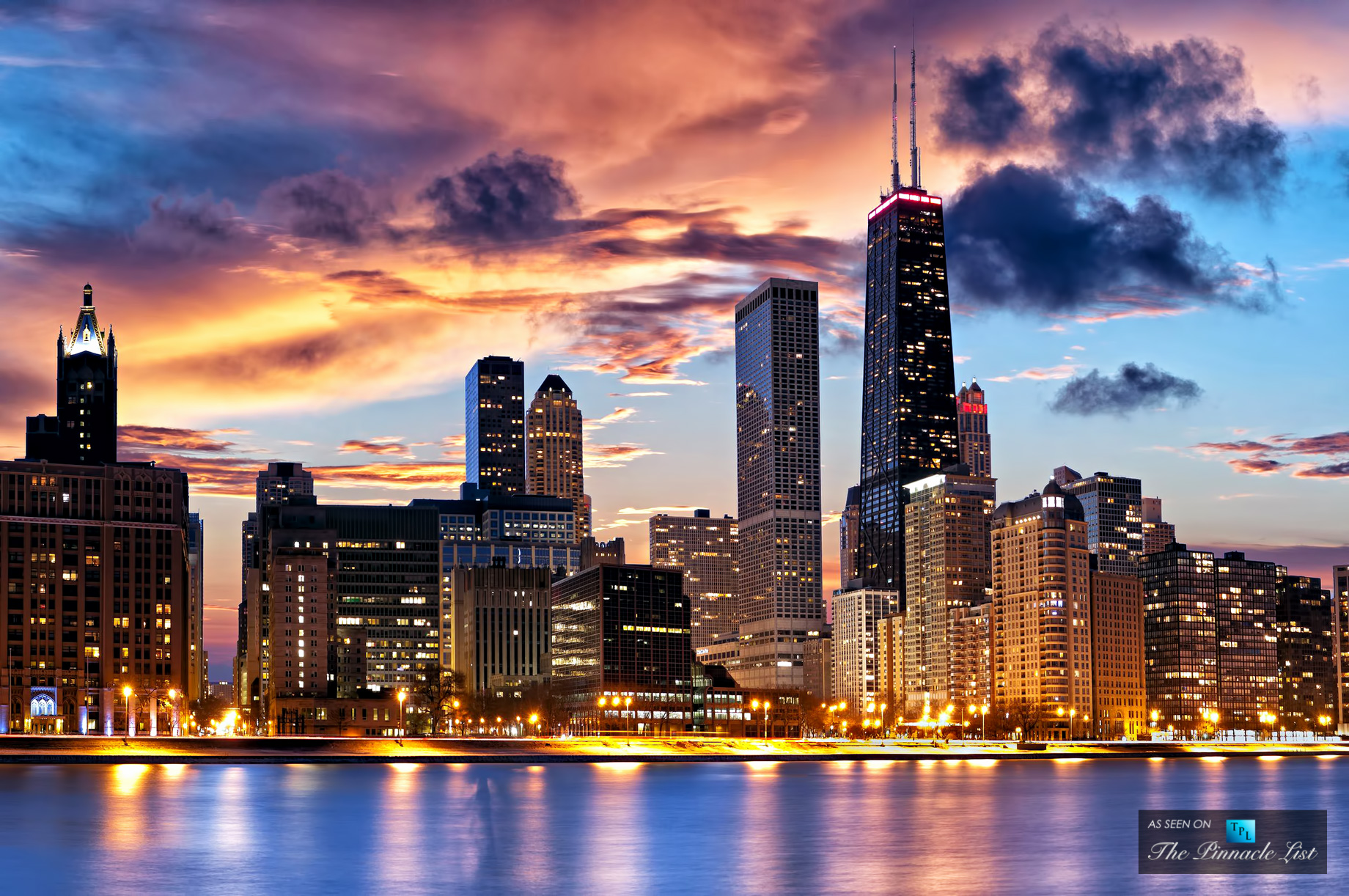 Stunning Sunset in Streeterville An Affluent Chicago Real Estate 1840x1222