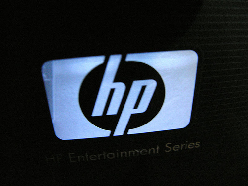 Hp Logo 3d hp 3d logo wallpaper 500x375