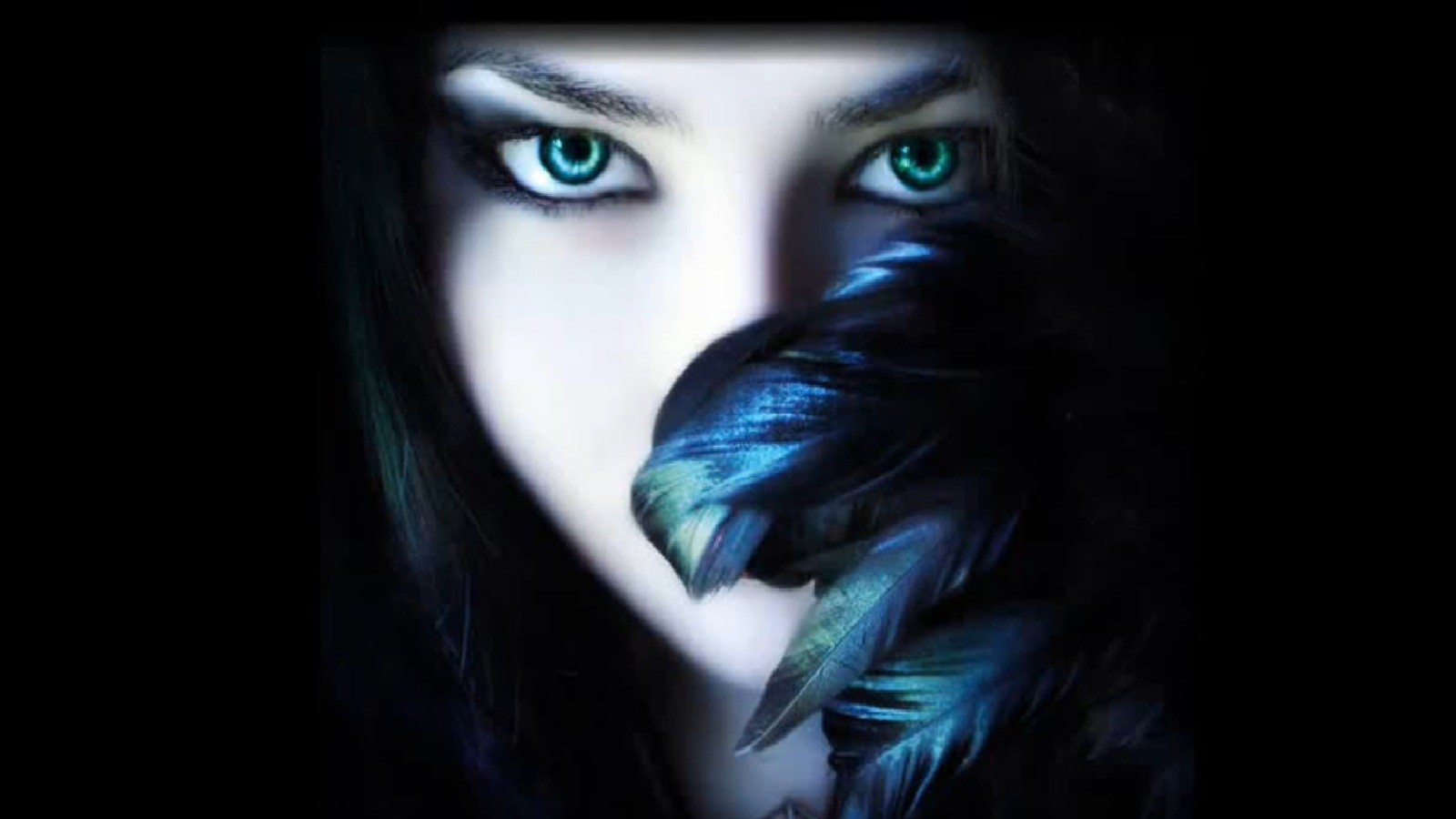 women fantasy eyes blue eyes gothic faces beautiful woman 1600x900