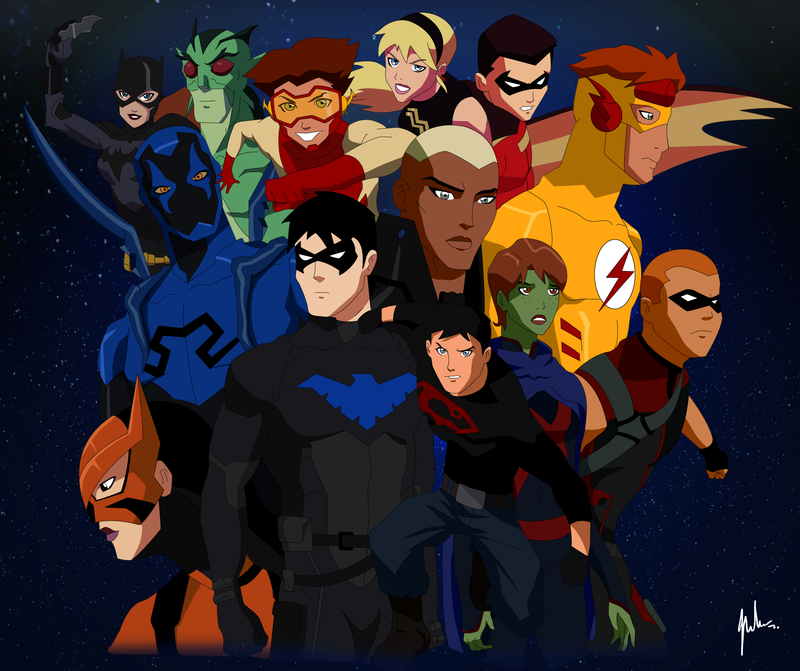 Young Justice Invasion Tribute by asemharun 800x671