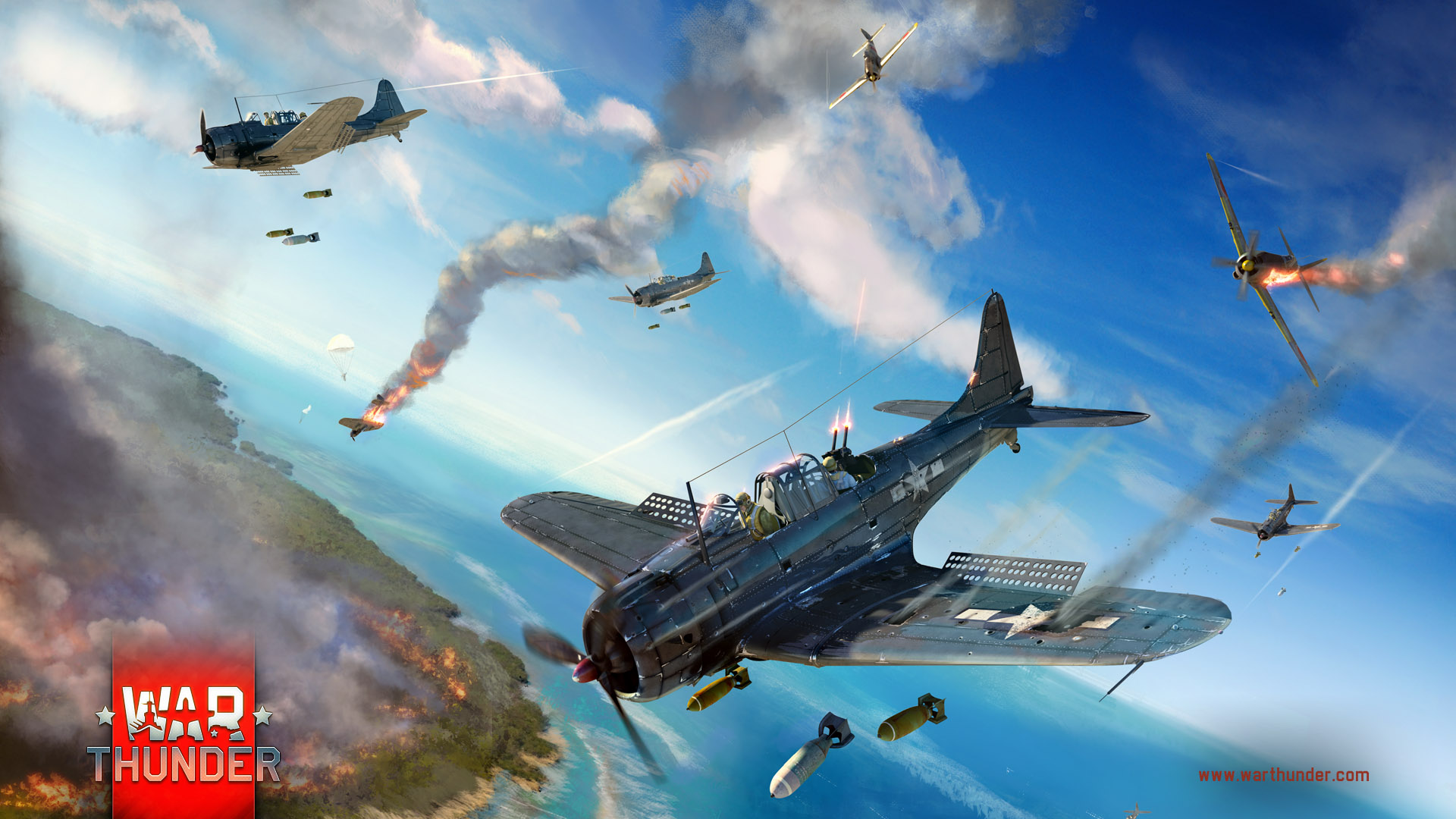 Profile] SBD 3 Dauntless   Slow But Deadly   News   War Thunder 1920x1080