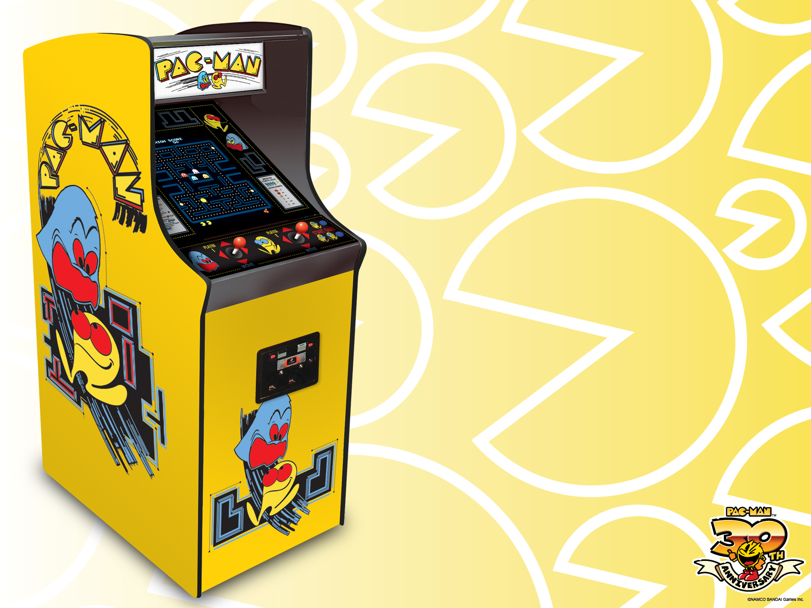 pac man wallpaper arcade classic downloads pac man official