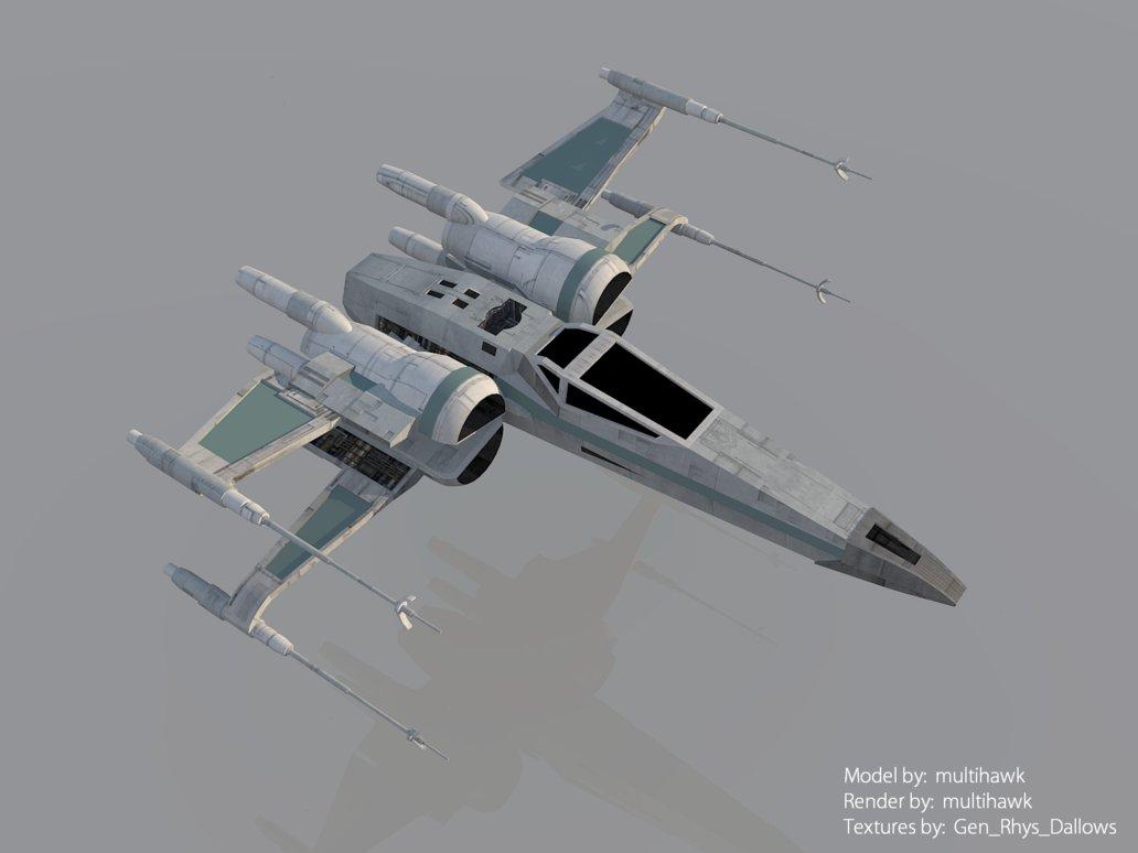 Star Wars The Force Awakens T 70 X Wing Render By Multihawk On 1032x774