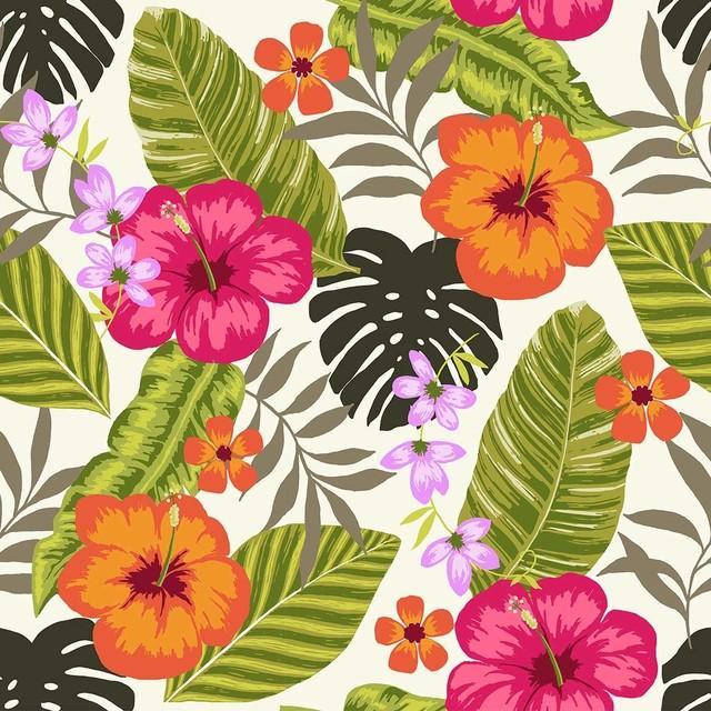 Tropical Fiesta Wallpaper Tiles tropical wallpaper 640x640