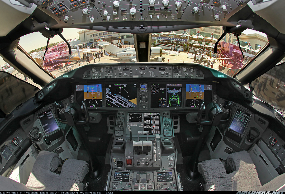 Boeing 787 cockpit wallpaper wallpapersafari for Airplane cockpit wall mural