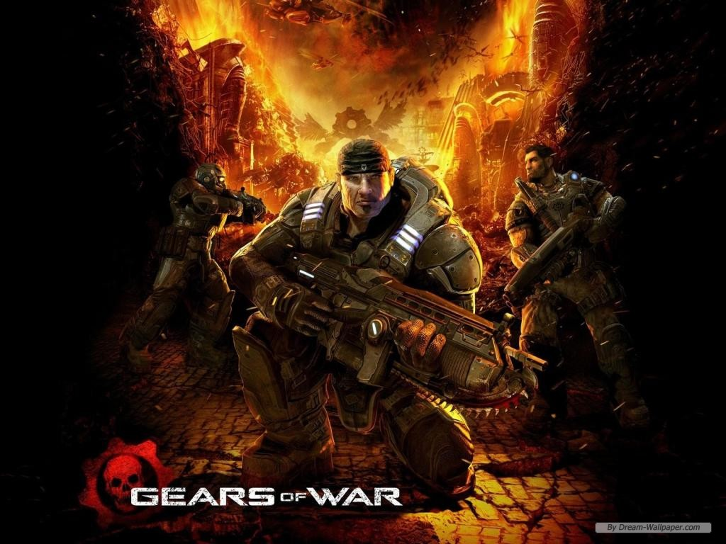 Wallpaper   Game wallpaper   Gears of War wallpaper 1024x768