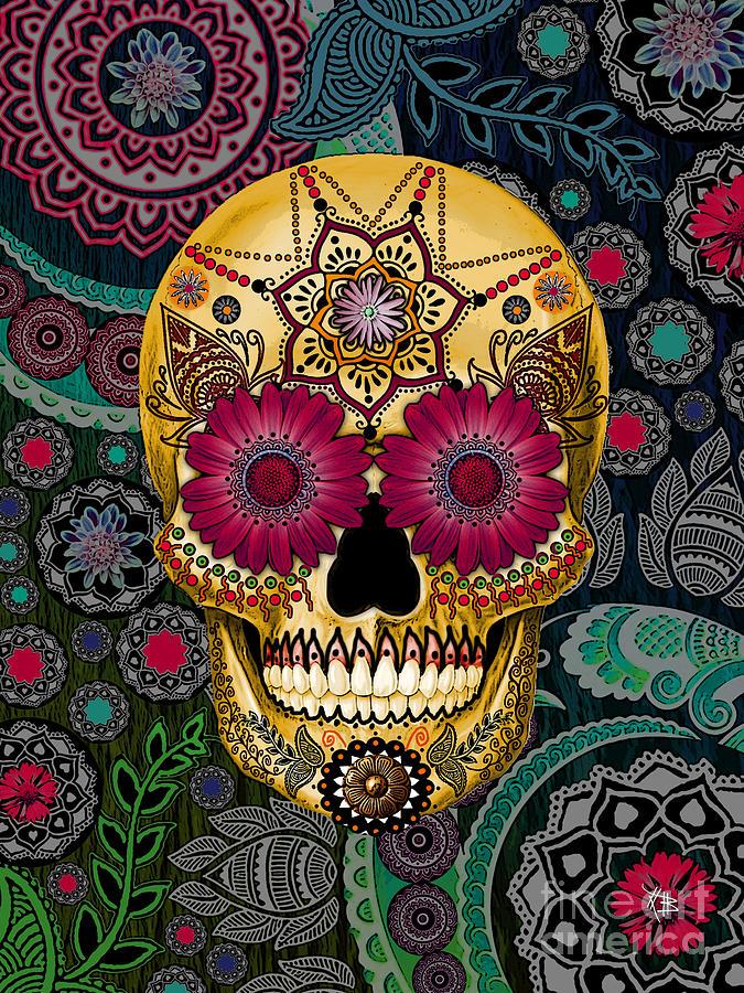 [45+] HD Sugar Skull Wallpaper on WallpaperSafari