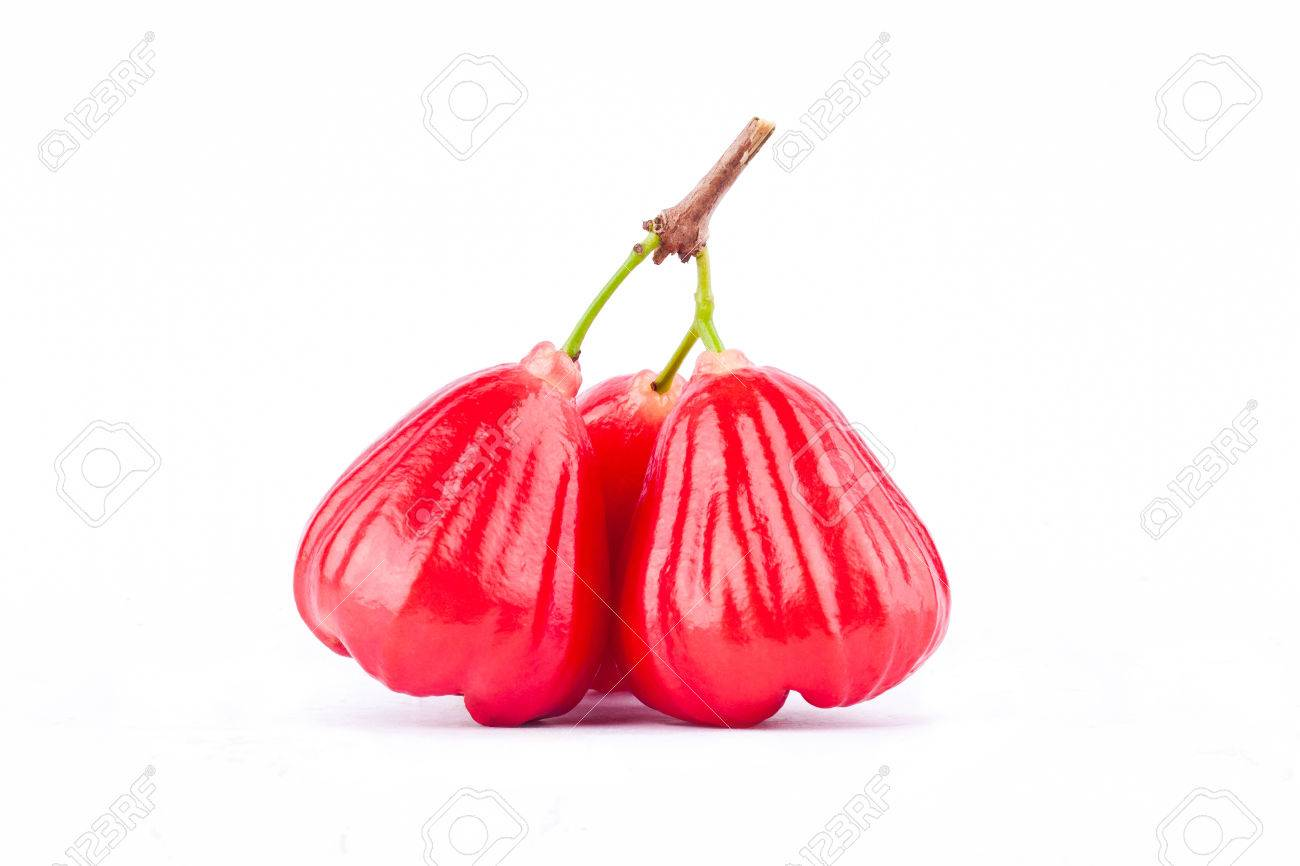 Red Rose Apple Have Sweet Taste Fruit On White Background Stock 1300x866
