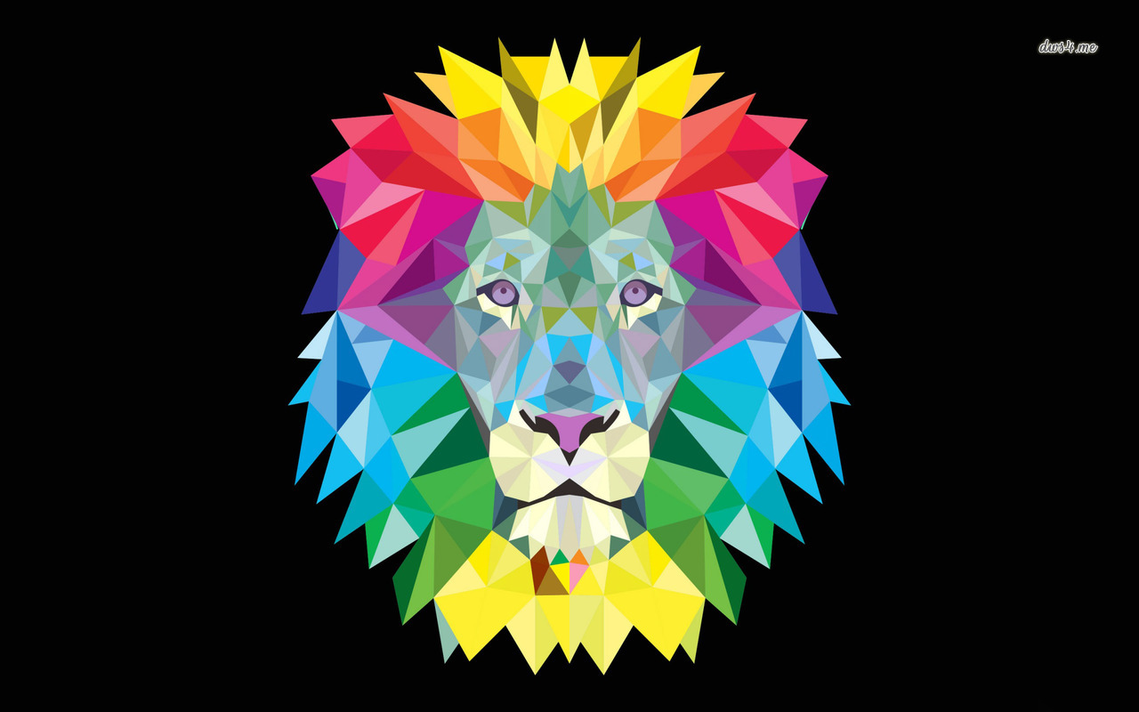 Colorful lion wallpaper   Digital Art wallpapers   43244 1280x800