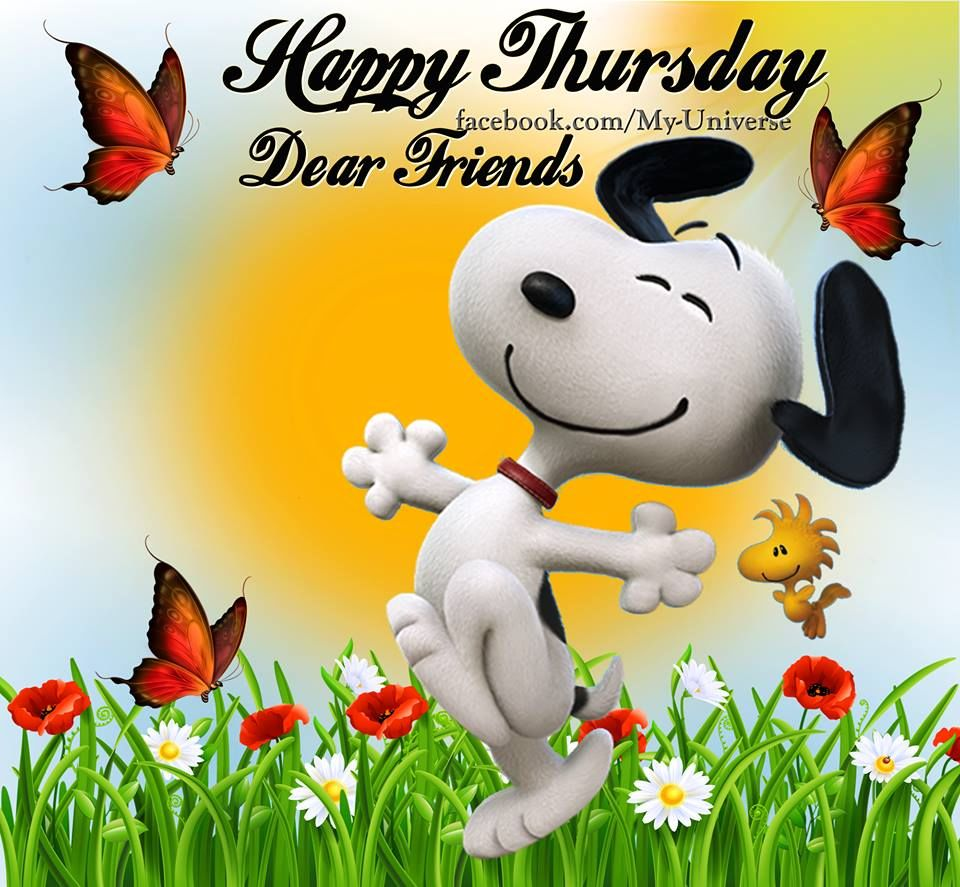 Happy Thursday Dear Friends Snoopy Quote Pictures Photos and 960x887