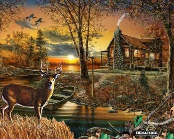 44 Wallpaper Deer And Cabin On Wallpapersafari