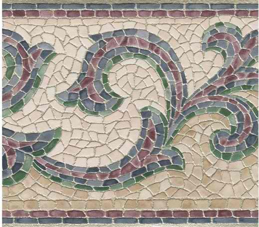 leaf trail wallpaper border grey 418b126 mosaic leaf trail wallpaper 519x455