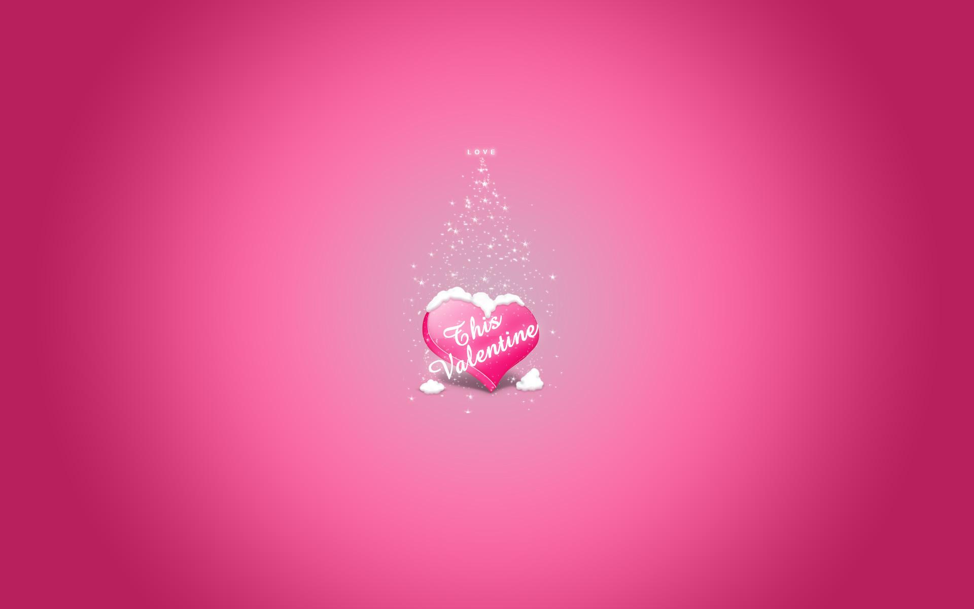 Valentine Love Pink Wallpaper Download 1920x1200