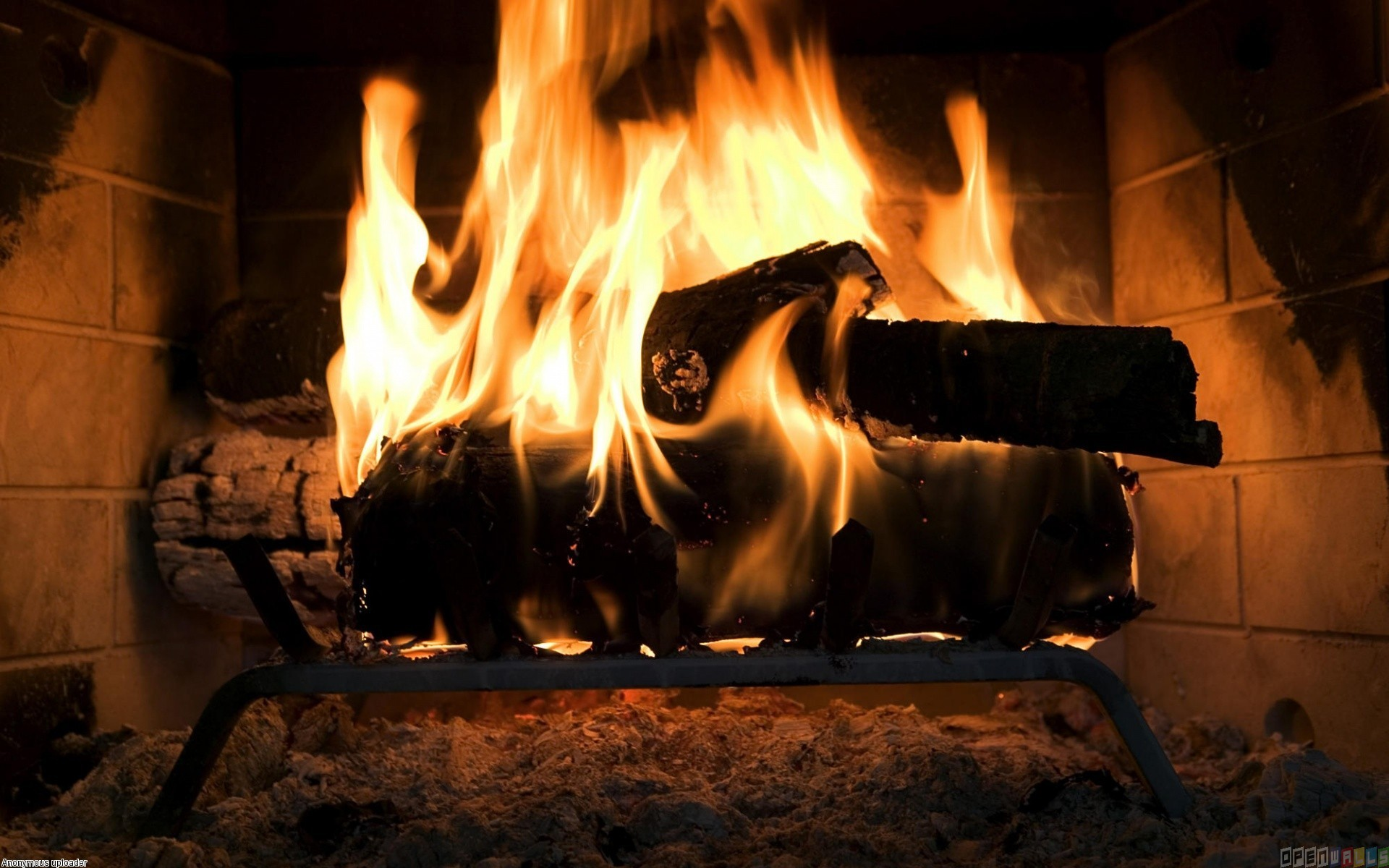 The fire in the fireplace wallpaper 6684   Open Walls 1920x1200