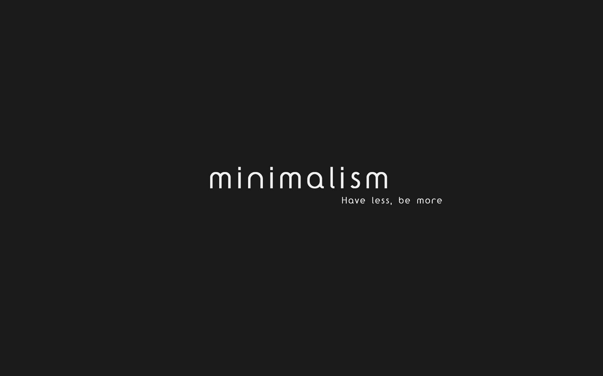 minimalism typography hd wallpaper 1920x1200 6093 1920x1200